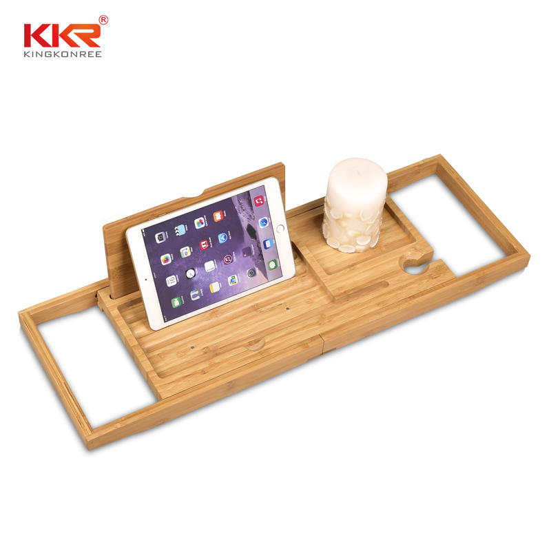 Bamboo Bathtub Frame Retractable Bathroom Rack