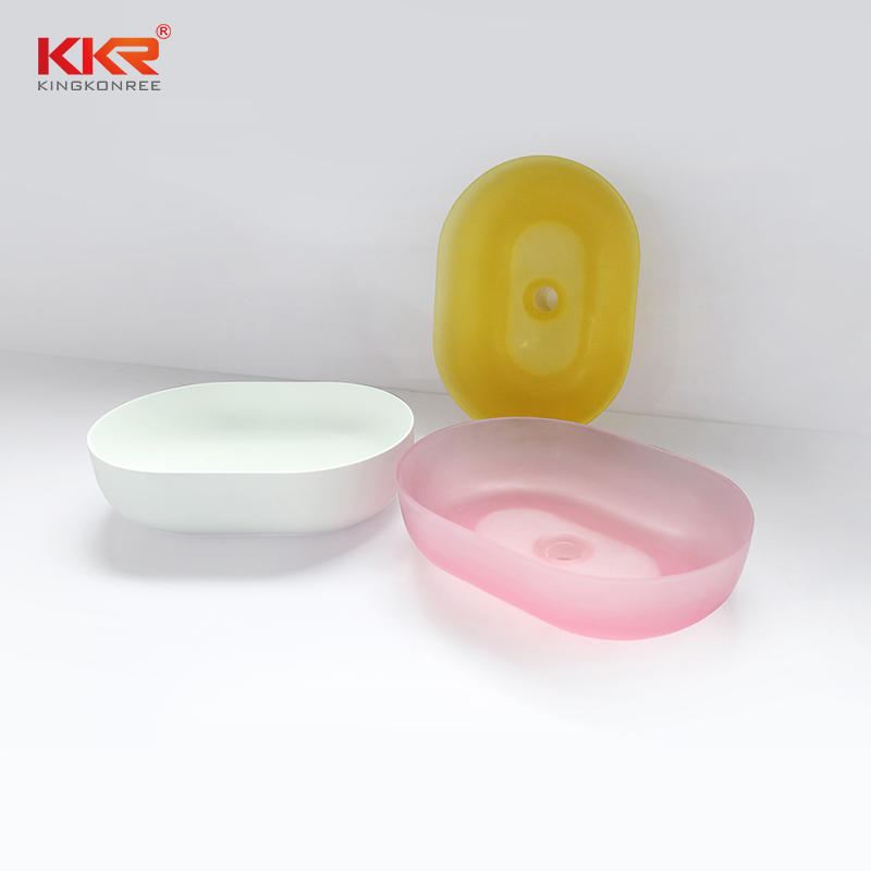 Transparent Oval Above Counter Basin