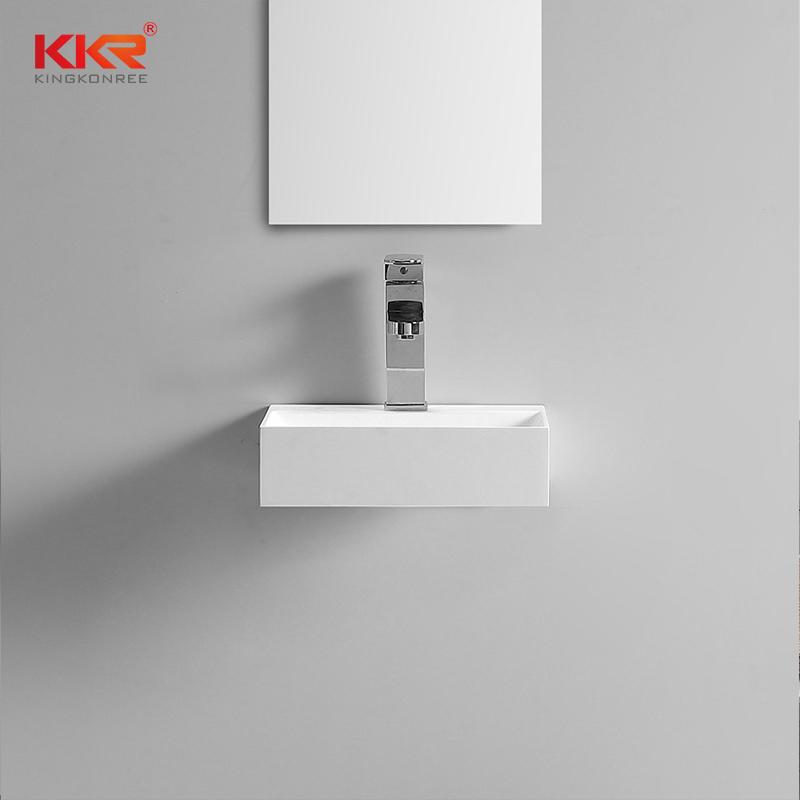 KKR Stone corian bathroom sinks bulk production for school building-2