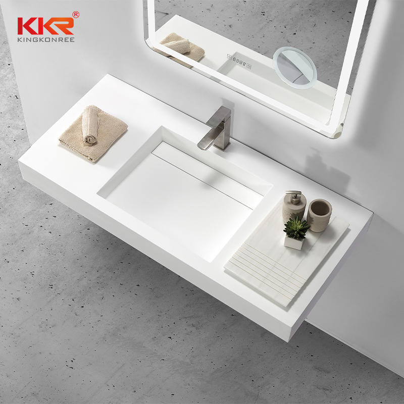 Europe Fashion Design High Quality Solid Surface Wall Hang Basin