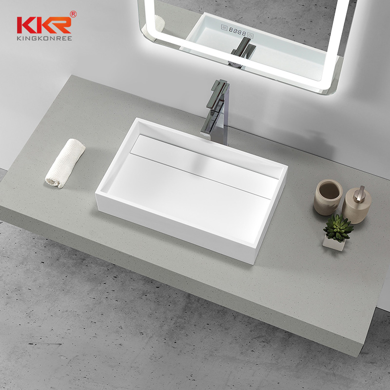 KKR Stone easily repairable countertop basin custom-design for worktops-1