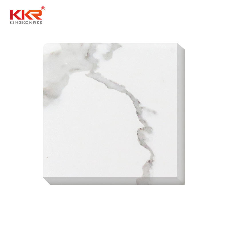High quality marble looking quartz stone big slab material used for countertop KKR-QY069