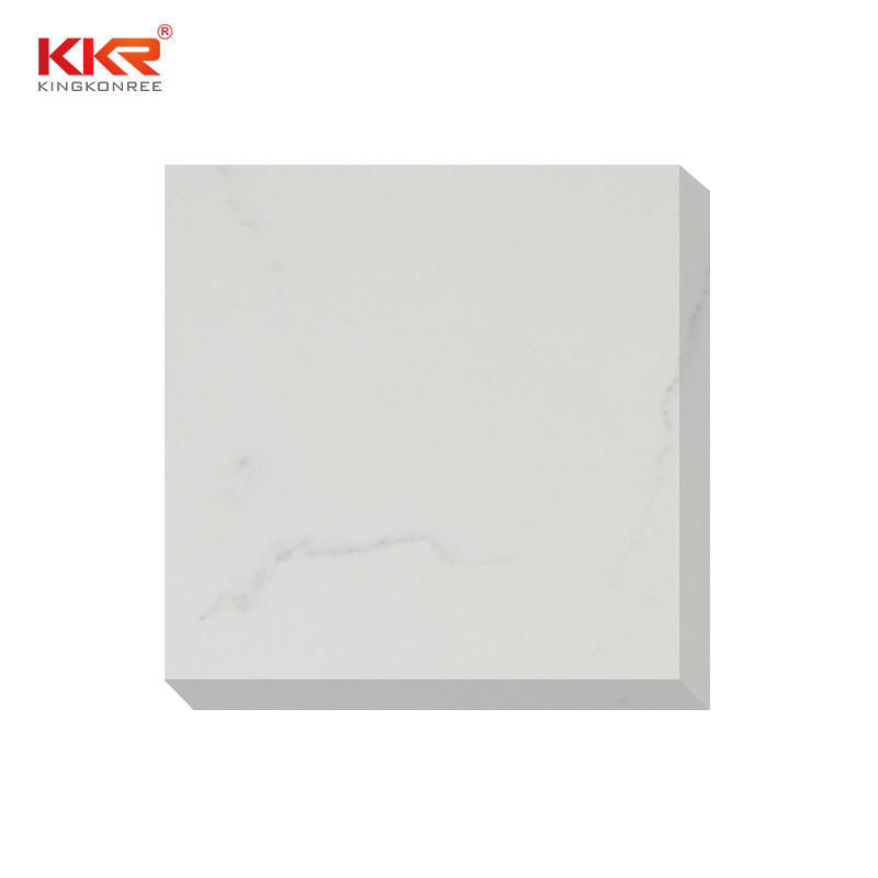 High quality white calacatta artificial natural quartz stone slabs KKR-QY031
