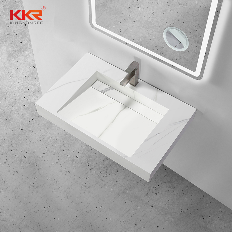 KKR Stone modern bathroom furniture in special shapes for worktops-1