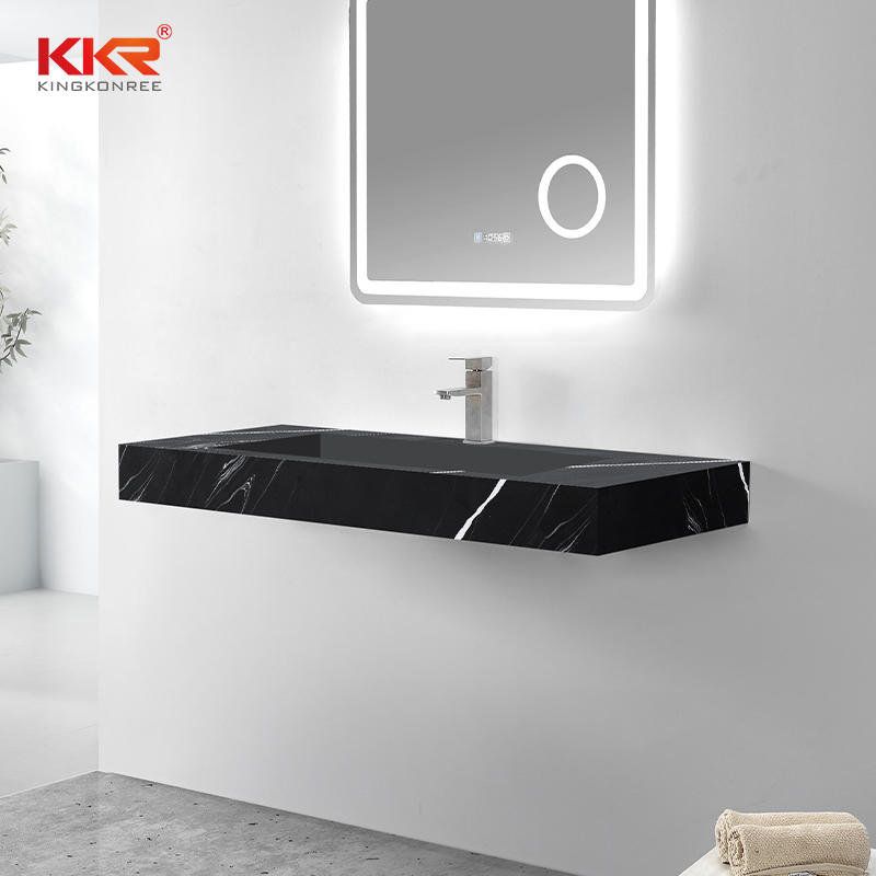 Europe Design Marble Color Acrylic Solid Surface Stone Wall Hung Basin