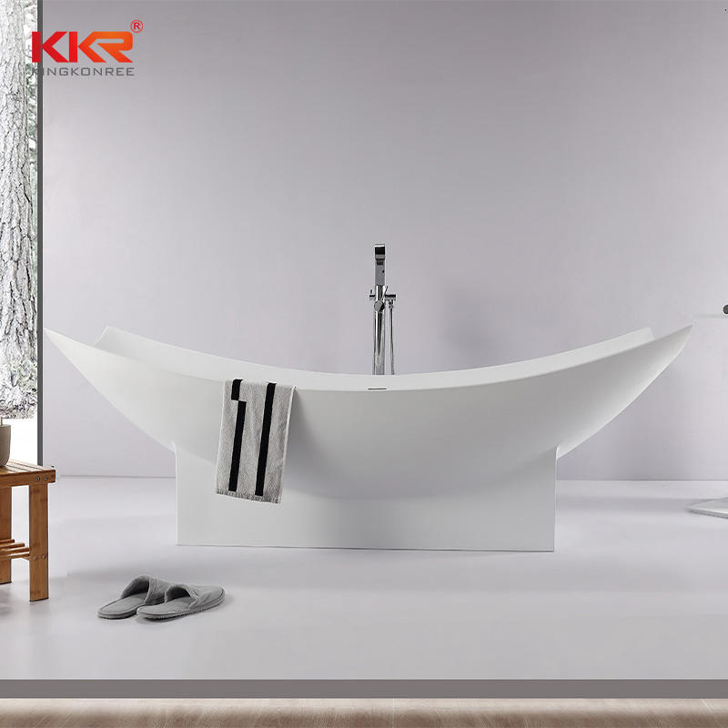 Artificial Stone Solid Surface Customize Freestanding Bathroom Bathtub