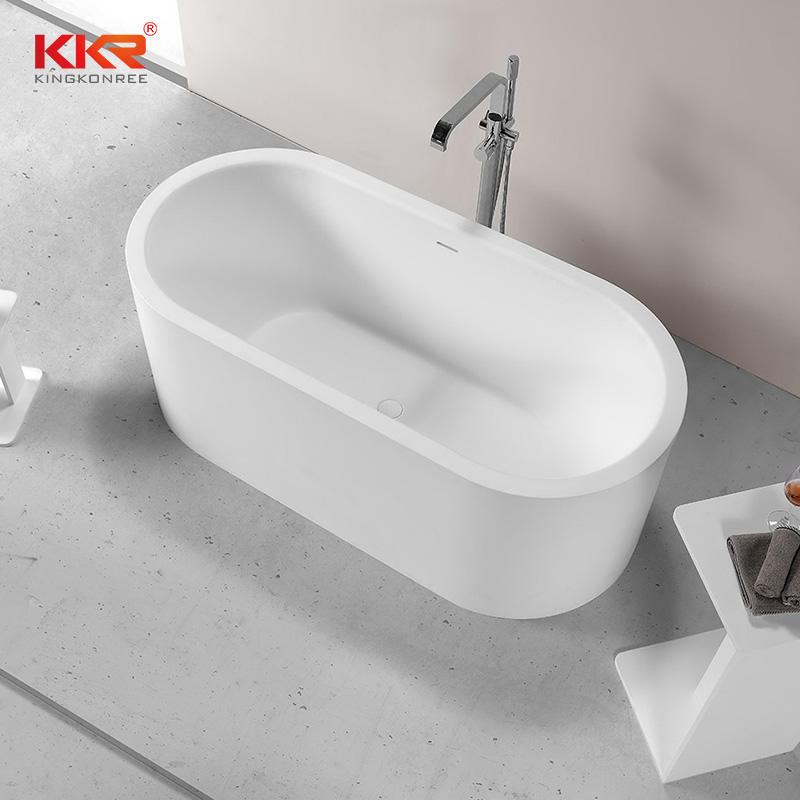 Elegant Design Artificial Stone Acrylic Solid Surface Freestanding Bath Tub
