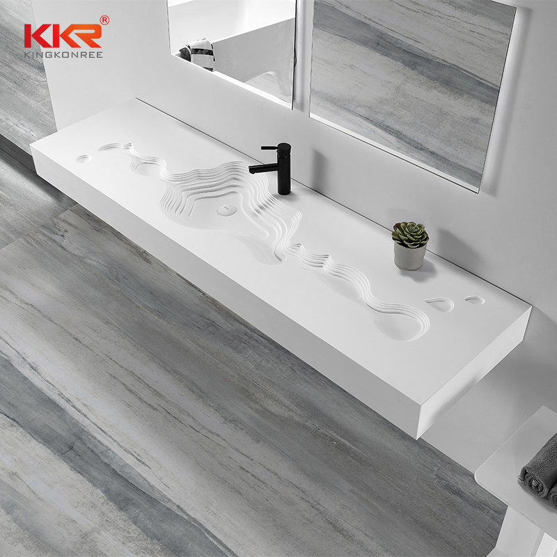 KKR Stone high tenacity small bathroom sink in special shapes for table tops-1