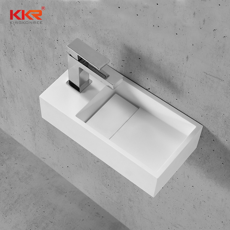 KKR Stone lassic style solid surface wash basin bulk production for table tops-2