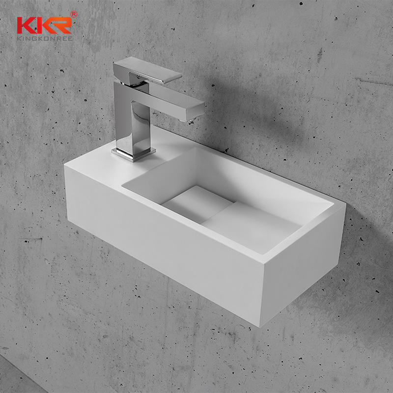 Small Size Resin Stone Wall Mounted Wash Basin