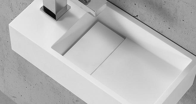 KKR Stone modern corian kitchen sinks custom-design for worktops-4