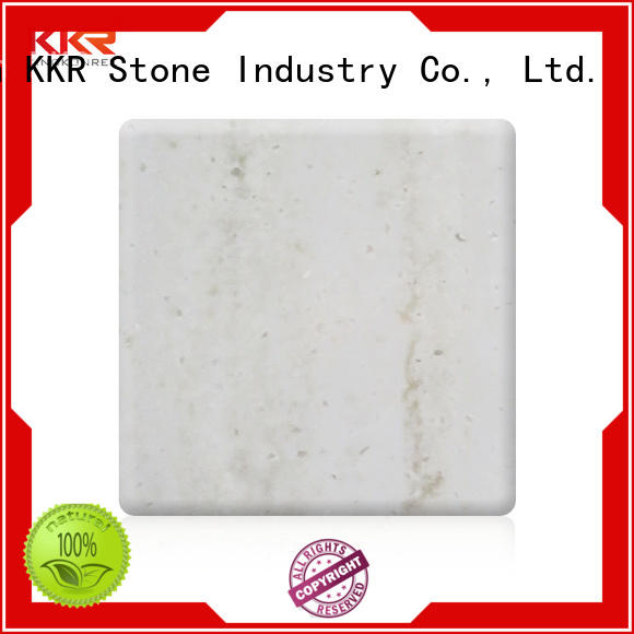 KKR Stone lassic style solid surface sheet bulk production for table tops