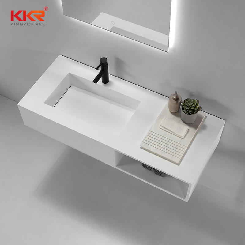 New Arrival Customized Design Acrylic Stone Solid Surface Bathroom Basin