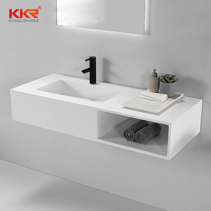 New Arrival Customized Design Acrylic Stone Solid Surface Bathroom Basin