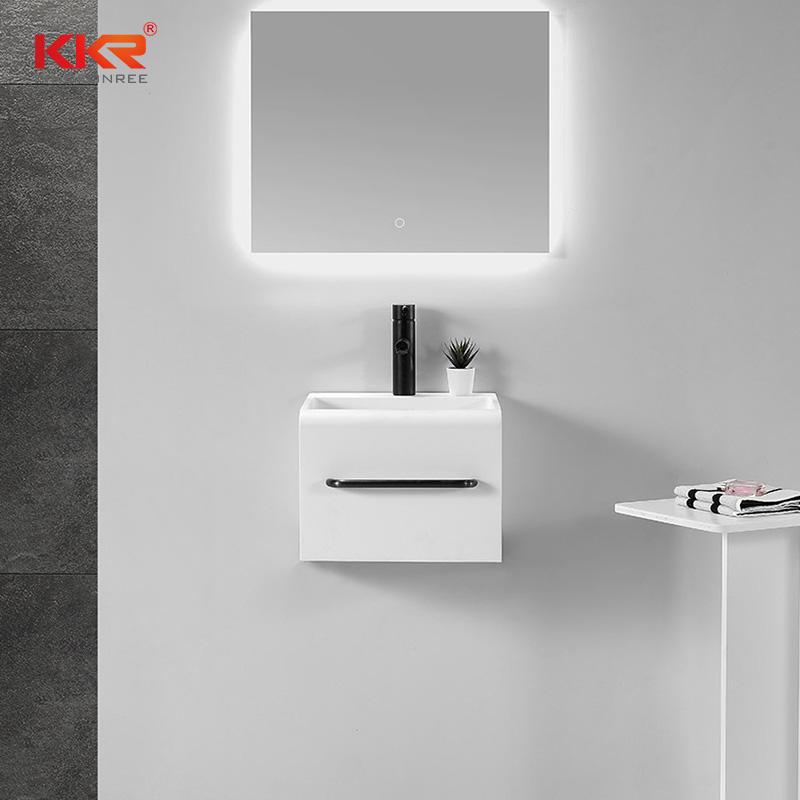 Samll Size Square Solid Surface Bathroom Wall Hung Washing Basin