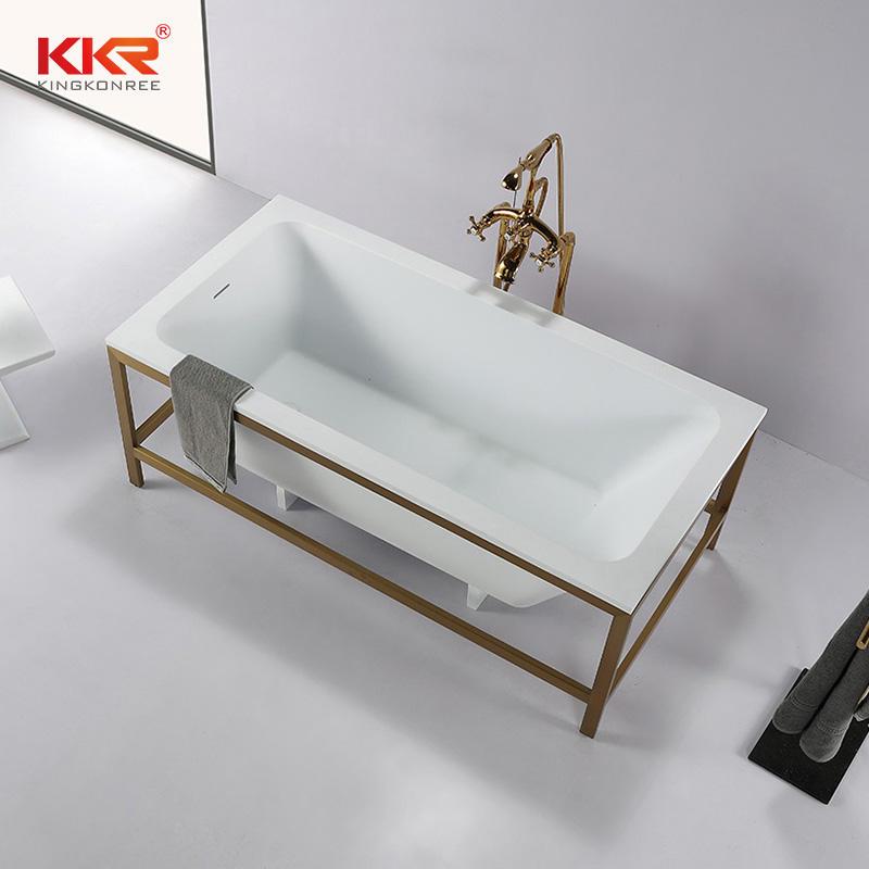 Rectangle Bathtub Resin Stone Acrylic Solid Surface Bathroom Freestanding Bathtubs