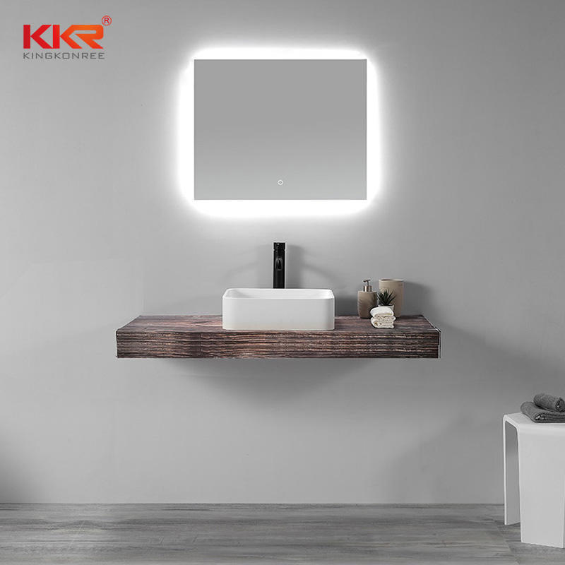 Newly above counter basin sanitary ware bathroom white handmade countertop sinks