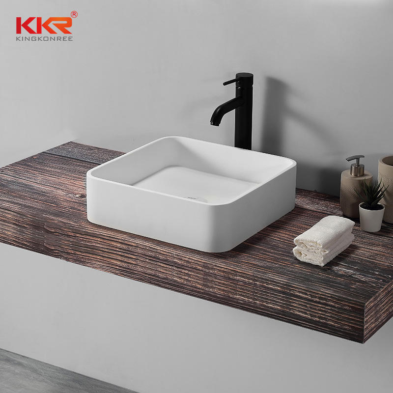Newly above counter basin sanitary ware bathroom white handmade countertop sinks