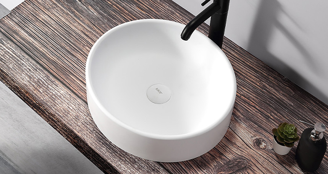 KKR Stone lassic style countertop basin in good performance for worktops-4