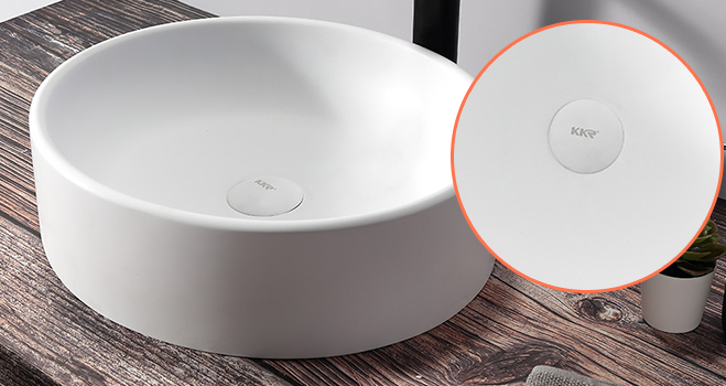 KKR Stone lassic style countertop basin in good performance for worktops-5