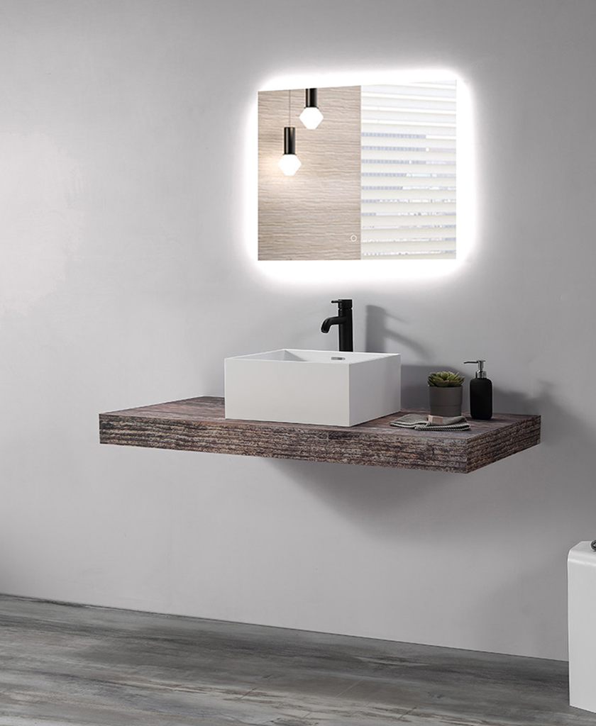 KKR Stone bathroom vanity with sink vendor for school building-1
