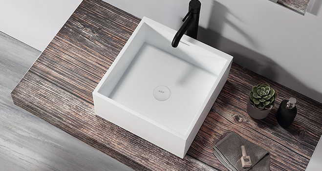KKR Stone lassic style corian bathroom sinks bulk production for home-4