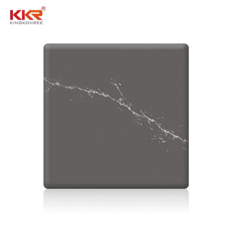 Grey Artificial Marble Texture Pattern Acrylic Stone Solid Surface Sheet KKR-M072