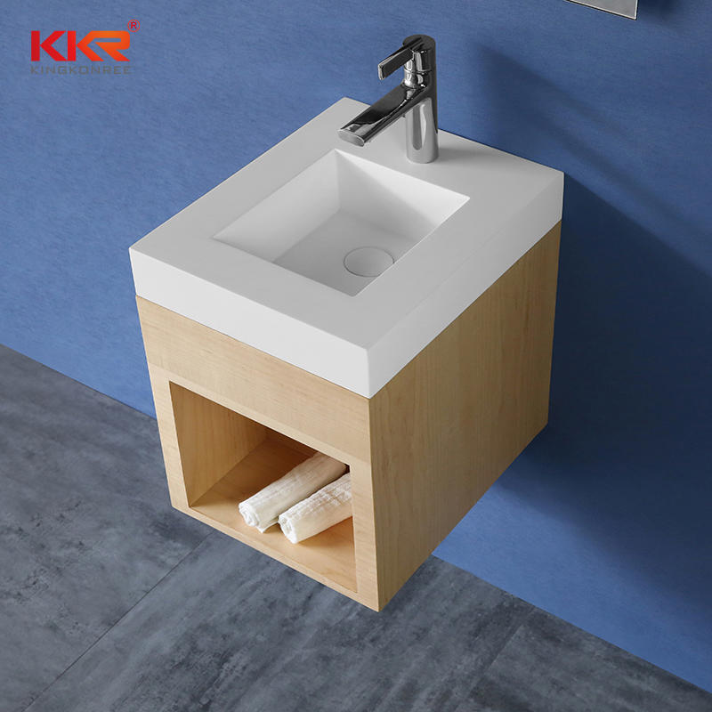 Small Size Vantiy Basin With Wall Hung Cabinet - Cabinet Basin 01
