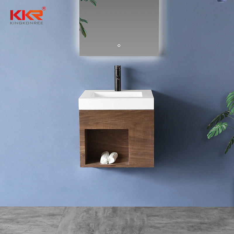 Square Small Size Bathroom Vanity Basin With Cabinet Set - Cabinet Basin