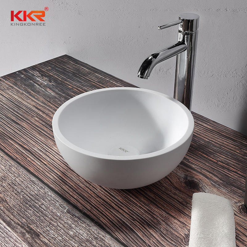 Hot Sales In The Dutch Market Round Acrylic Solid Surface Washbasin KKR-1113