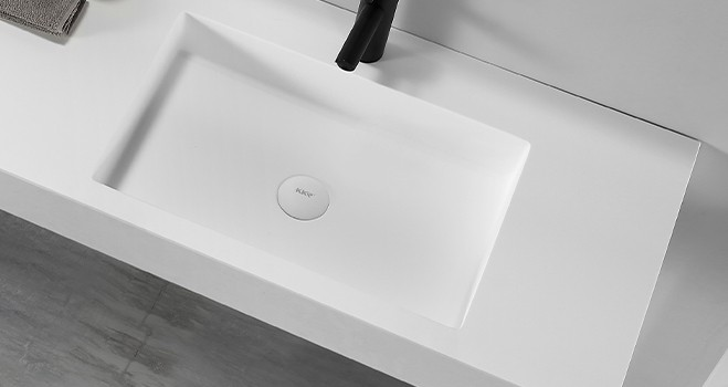KKR Stone corian basin in special shapes for kitchen tops-4