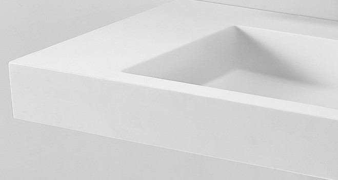 KKR Stone corian basin in special shapes for kitchen tops-5