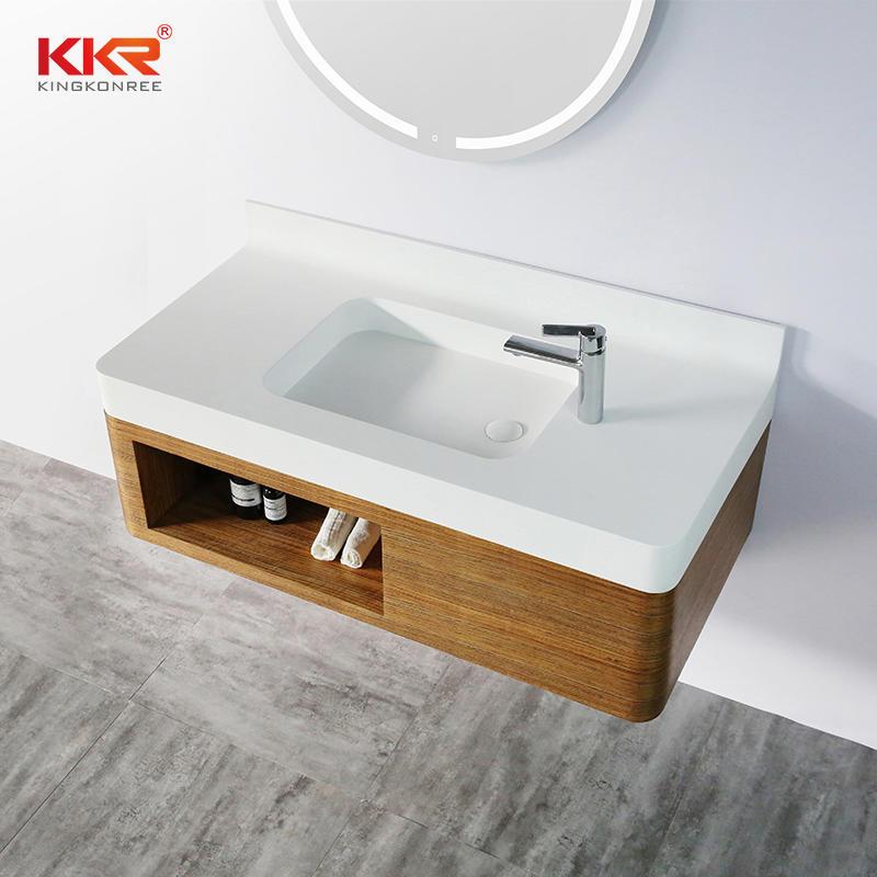 High-end Bathroom Wooden Cabinet for 5 Starts Hotels KKR-XM1158