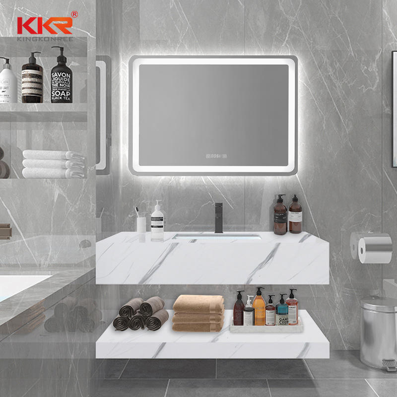 Texture Pattern Artificial Marble Veinning Solid Surface Wash Basin Vanity Sink KKR-M069