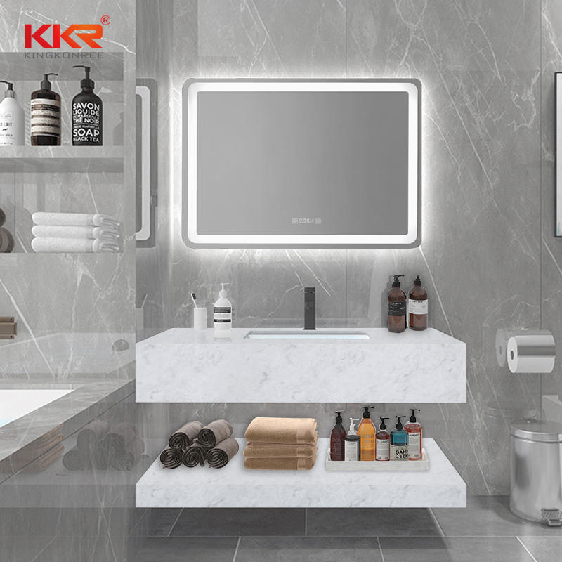 Artificial Stone Texture Marble Solid Surface Wash Basin Vanity Sink KKR-M8808
