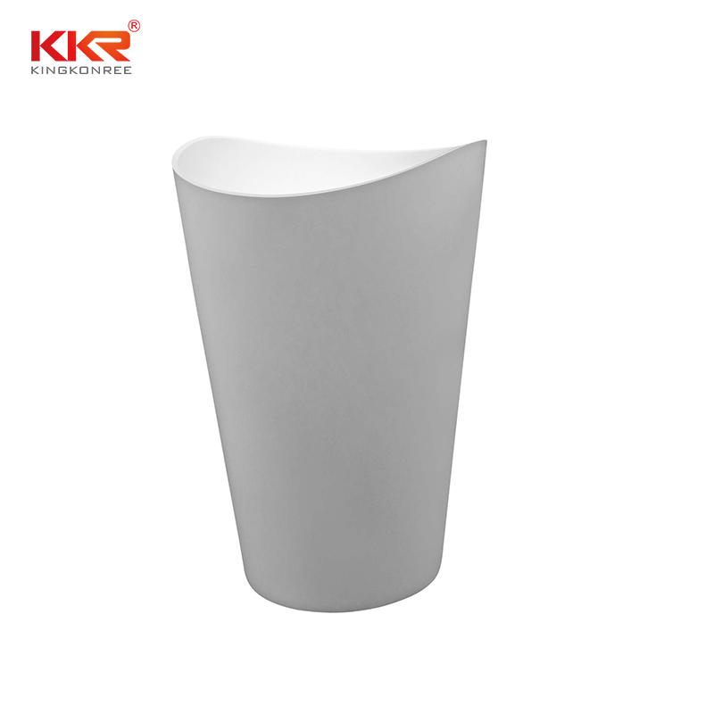 Acrylic Marble Stone Freestanding Basin Solid Surface Vessel Sink  KKR-1900