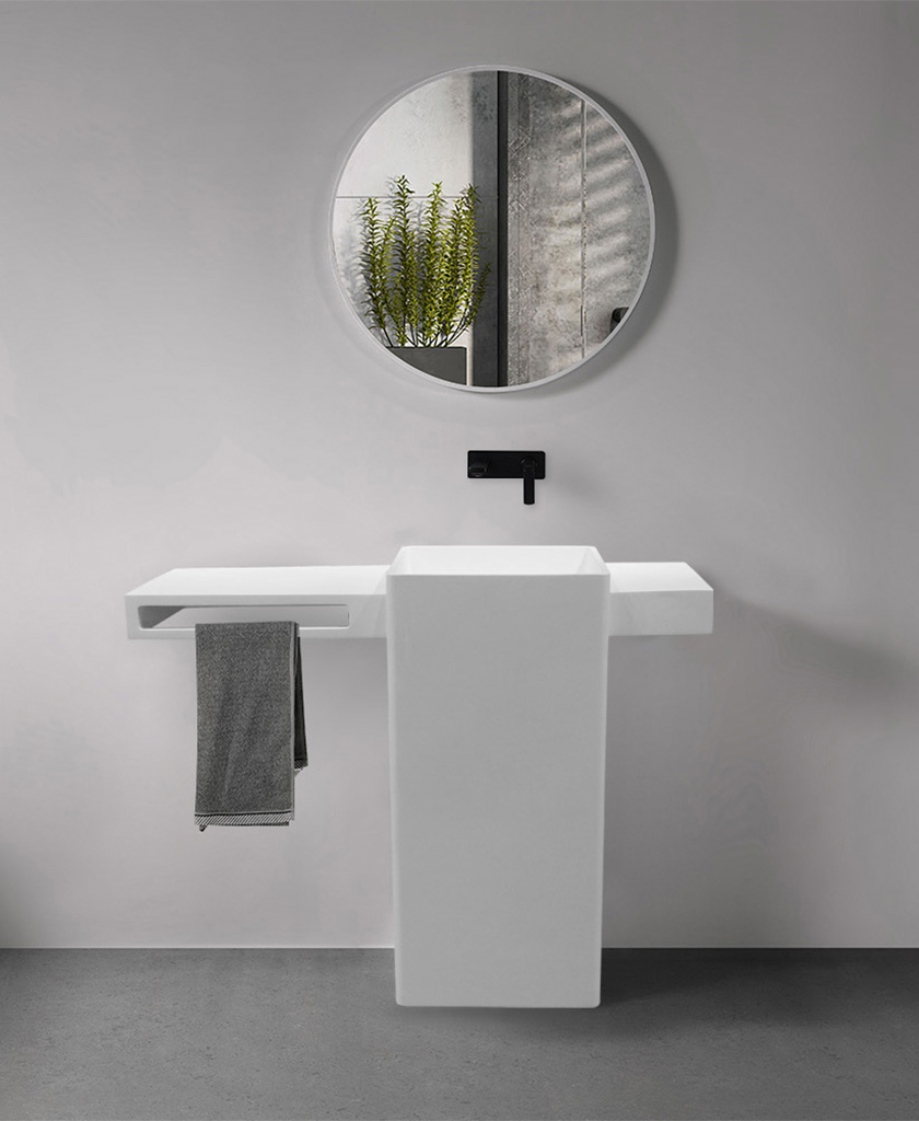 KKR Stone high tenacity bathroom vanity with sink in good performance for worktops-1