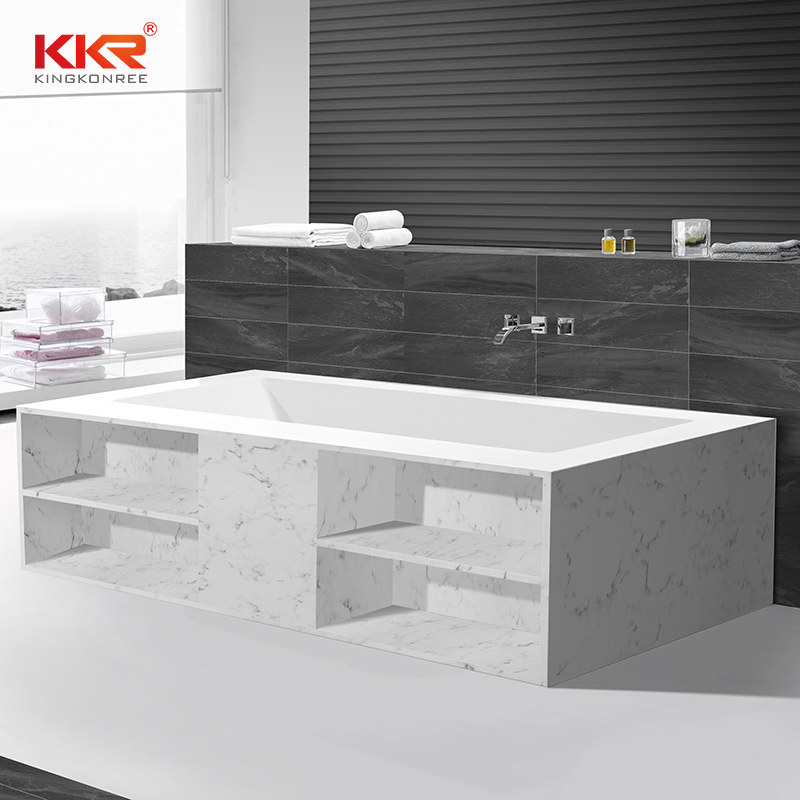 KKR Stone modified solid surface shower pan directly sale for home-1