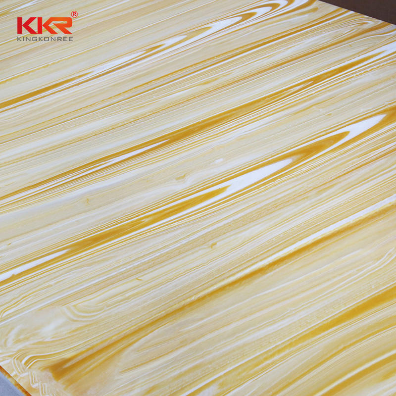 96 Inch Marble Pattern Translucent Solid Surface Sheets KKR-A106