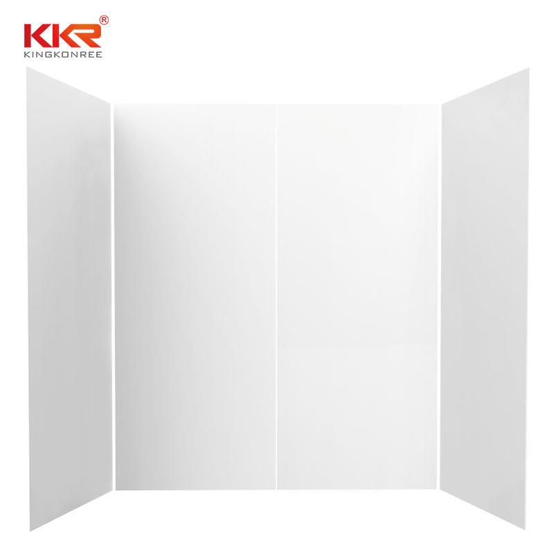 High Qualtiy Marble Texture Pattern Solid Surface Bathroom Shower Surround