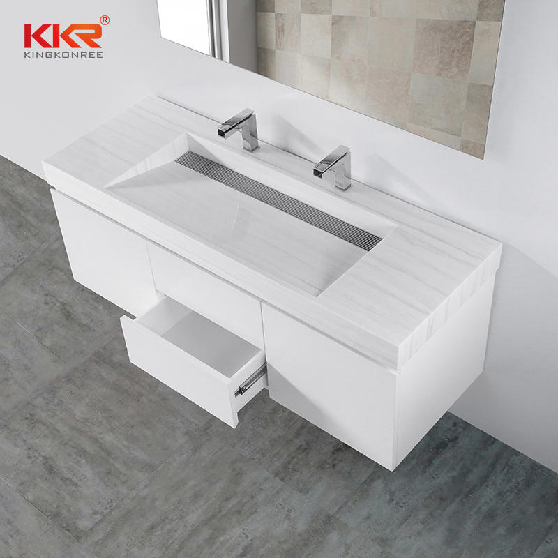 High Quality White Paniting Bathroom Vanity Cabinet KKR-CAB004