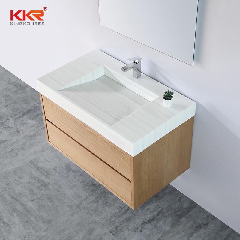 Customized Wall Hung Bathroom Vanity Cabinet for 5 Stars Hotel KKR-CAB002