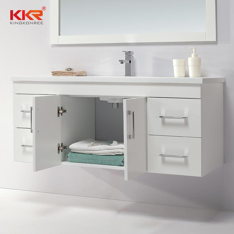 Hot Sale Wall Mounted Design Modern Vanity Bathroom Cabinet KKR-703CH