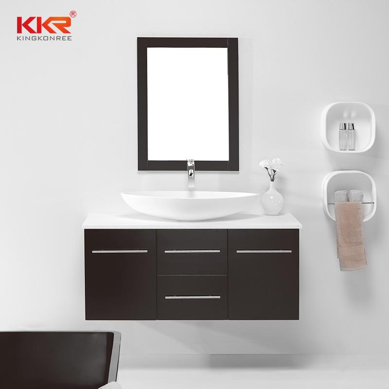 Modern Bath Waterproof Wooden Wall Mounted Bathroom Vanity Cabinet KKR-709CF