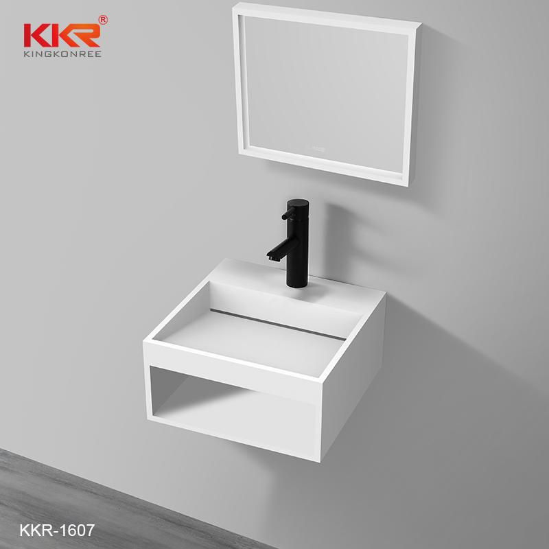 New Arrival Solid Surface Slope Design Bathroom Wash Basin KKR-1607
