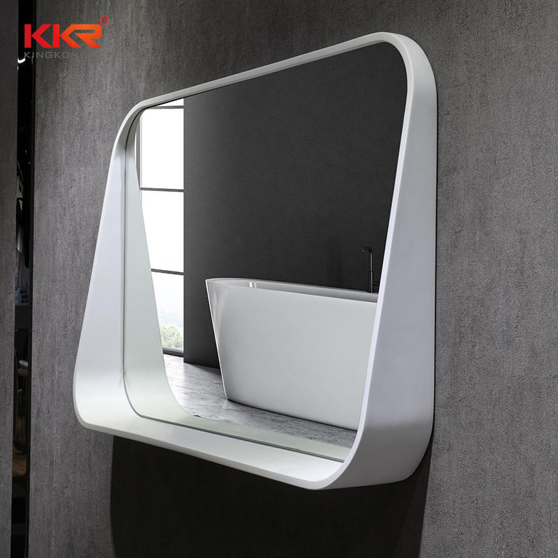 Modern Artificial Marble Stone Solid Surface Bathroom Mirror KKR-2002
