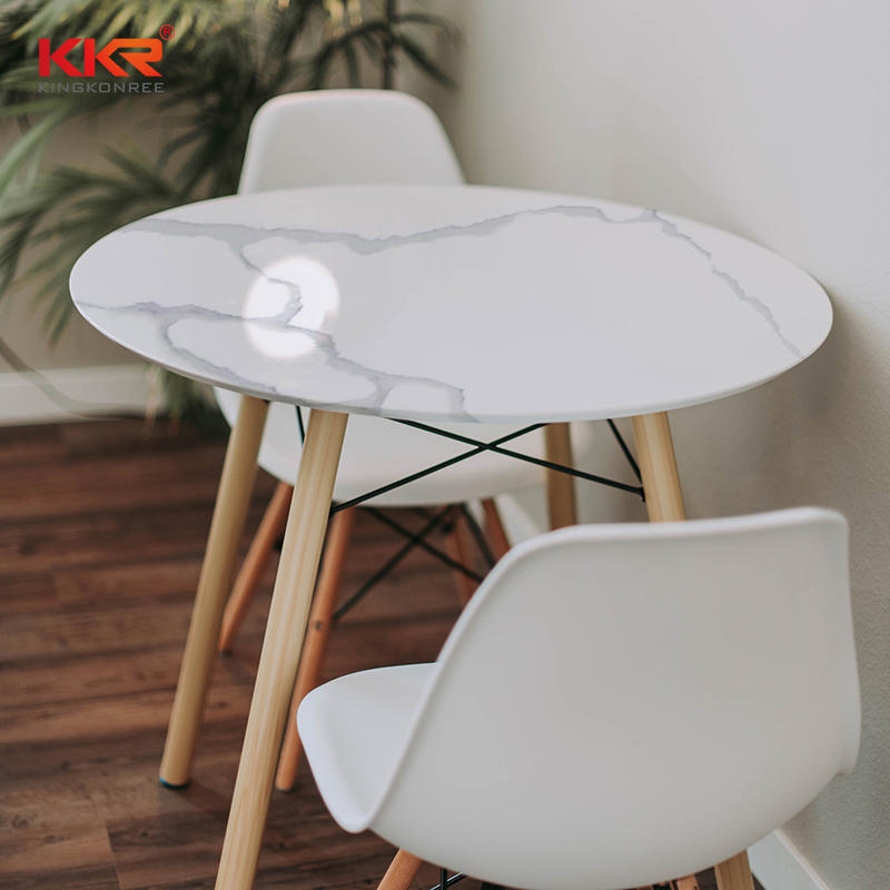 Hot Sales Artificial Stone Marble Top Round Dinning Table in Color KKR-M069
