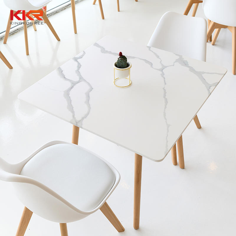 Modern Nordic Style Furniture Texture Marble Pattern Solid Surface Table Marble Top