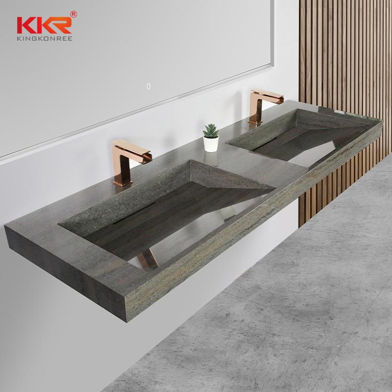 Customized Bathroom Vanity Basin Solid Surface Marble Color Vanity Wash Basin KKR-M8873