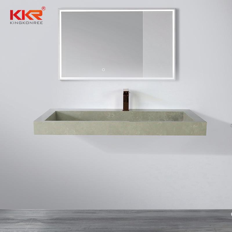 Artificial Stone Resin Basins Sink Acrylic Solid Surface Lavabo Bathroom Washbasin Wash Basin Sink KKR-M8861